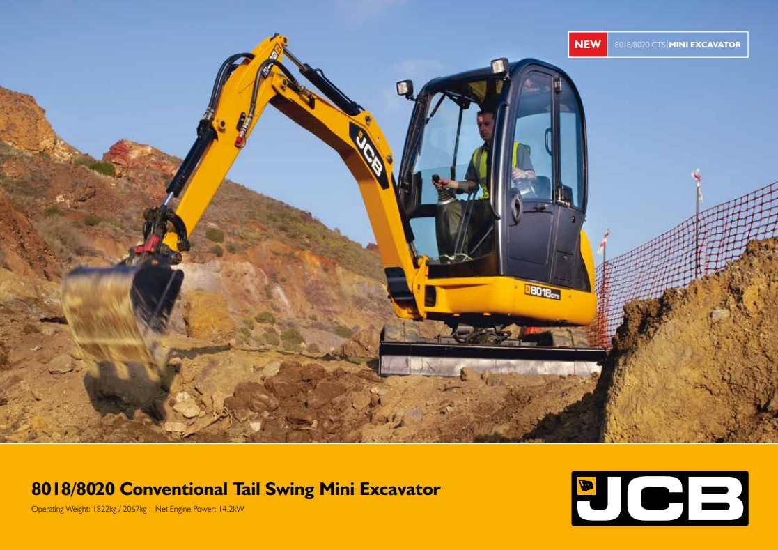 Cover Image of 8018 8020 Conventional Tail Swing Mini Excavator