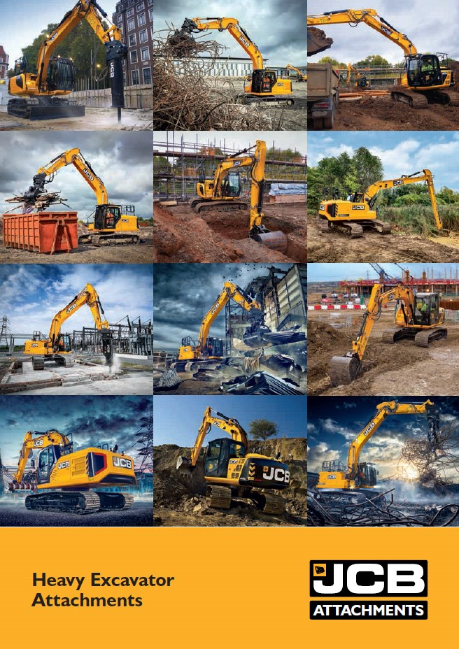 Cover Image of Heavy Excavator Attachment Brochure