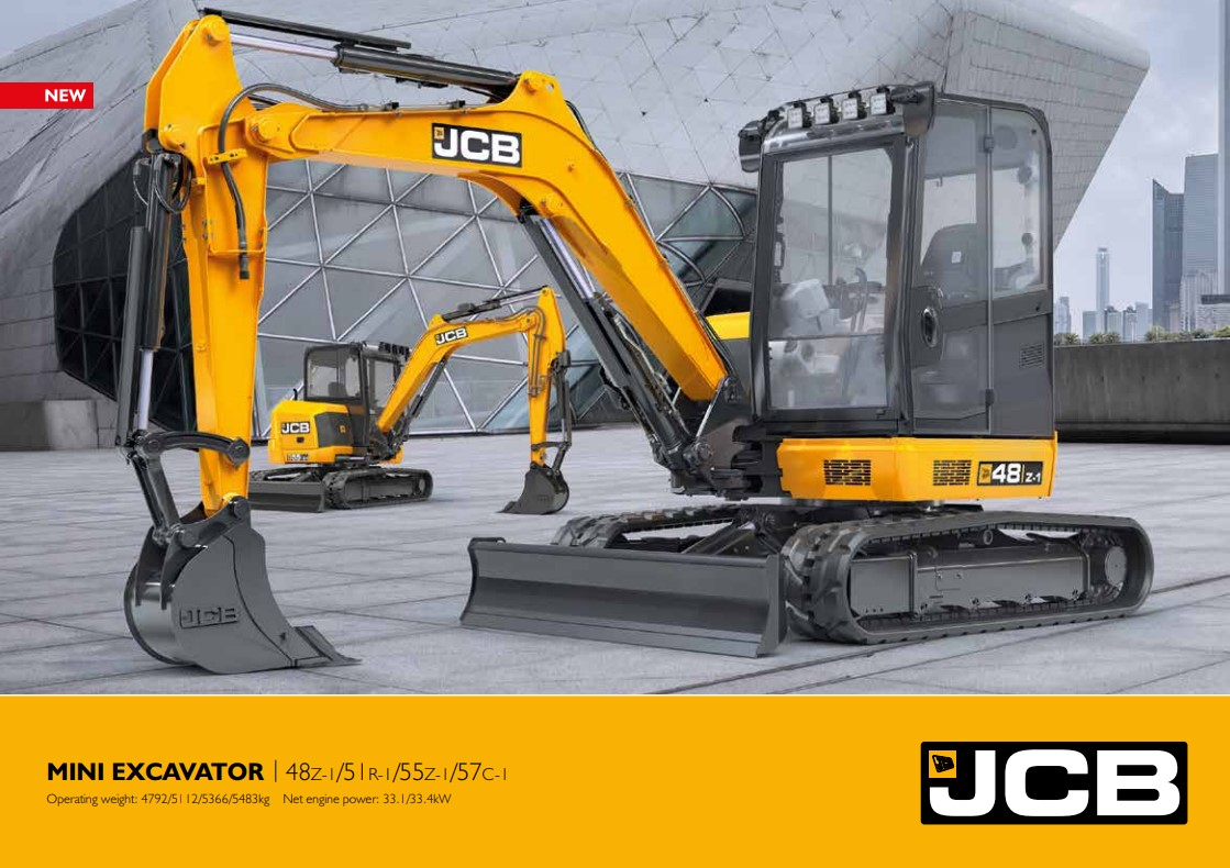 Cover Image of New Generation Mini Excavator Brochure
