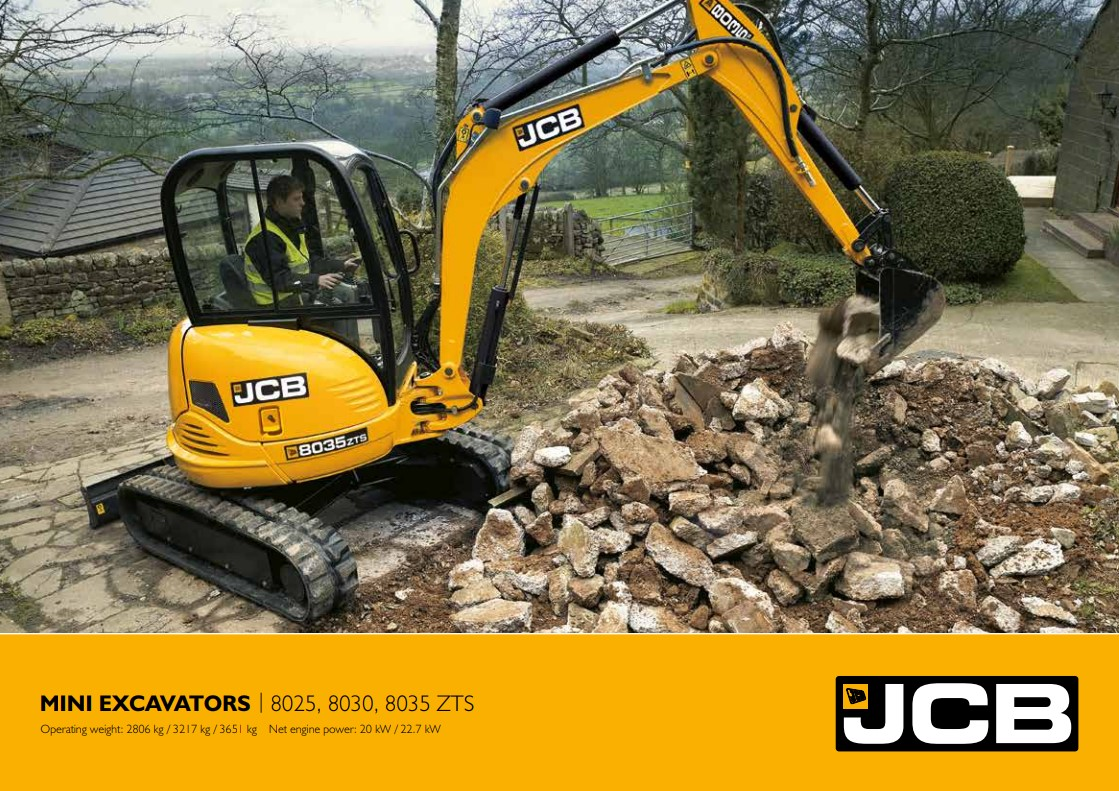 Cover Image of Mini Excavator Brochure