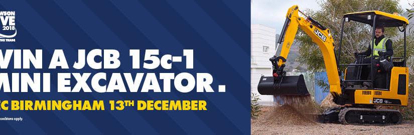 WIN a new JCB 15C-1 Mini Excavator