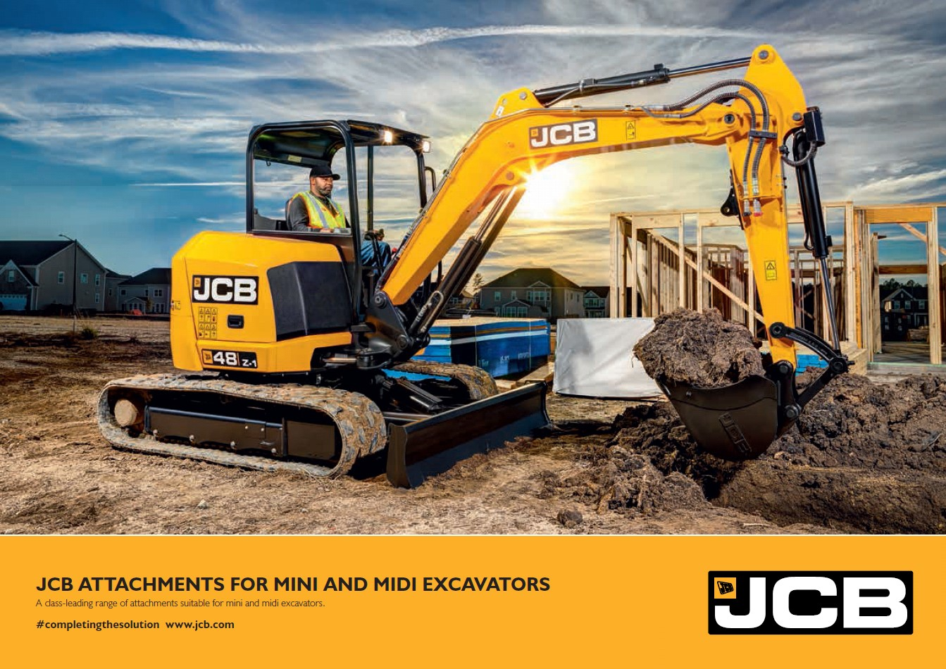 Cover Image of JCB Attachments for Mini and Midi Excavators brochure